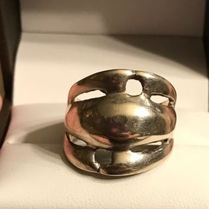 vintage sterling silver unique Ring size 8
